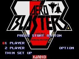 دانلود بازی هواپیمای جنگی Aero Blasters سگا