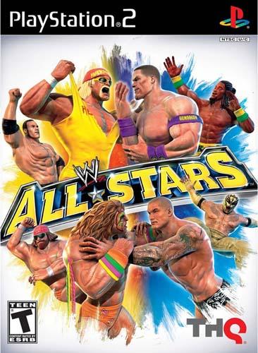 WWE All Stars PS2 ISO Cover Ziperto - دانلود بازیهای کشتی کج پلی استیشن ۲ برای کامپیوتر