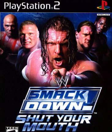 WWE SmackDown Shut Your Mouth PS2 ISO Cover Ziperto - دانلود بازیهای کشتی کج پلی استیشن ۲ برای کامپیوتر